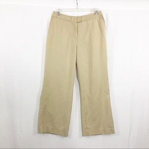 J Jill Crop Flare Leg Pants, Size 10 Petite, Tan